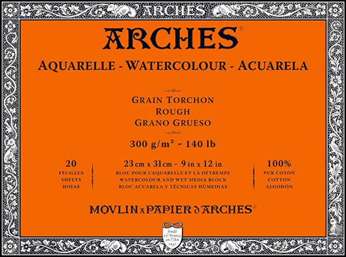 Carta per Acquerello ARCHES 300g Grana Grossa