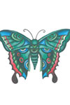 Green Blue Butterfly tattoo