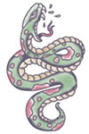 Traditional Green Snake tattoo