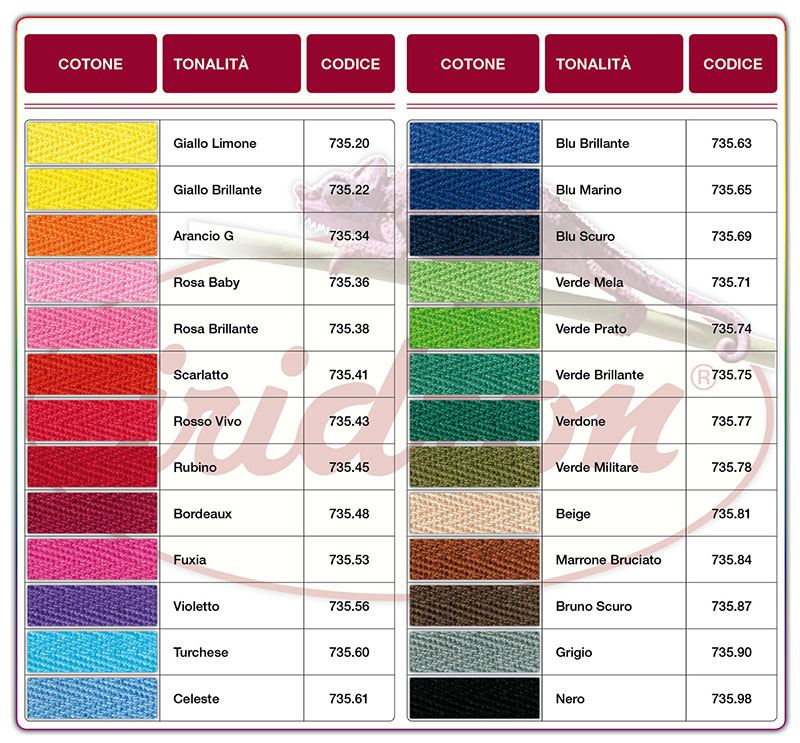 b1e8cb701a Cartella Coloranti per la Tintura dei Tessuti IRICOLORS