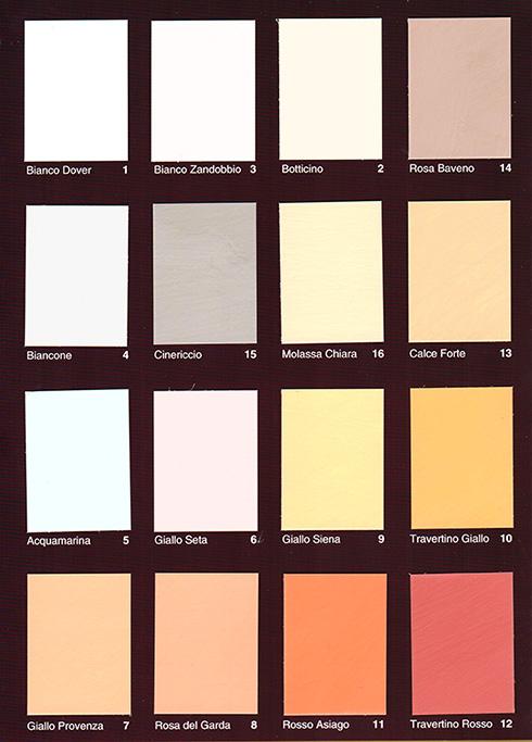 Pittura a calce for Cartella colori pittura pareti